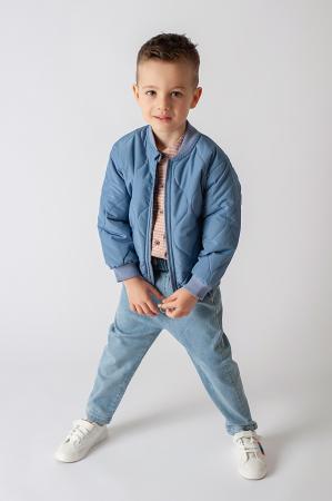 Pantalon denim albastru cu elastic in talie4