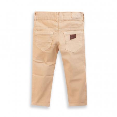 Pantalon din Denim Culoare Bej [1]
