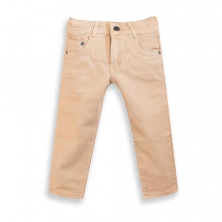 Pantalon din Denim Culoare Bej [0]