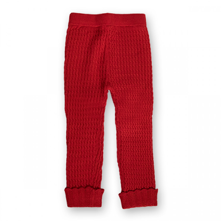 Pantalon Legging din Tricot cu Model0