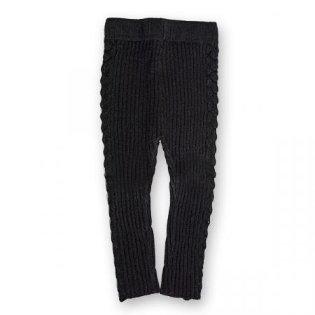 Pantalon Legging din Tricot cu Model0