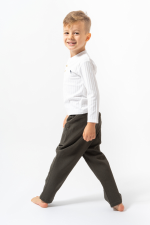 Pantalon lung culoare kaki5