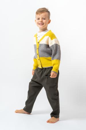 Pantalon lung culoare kaki3