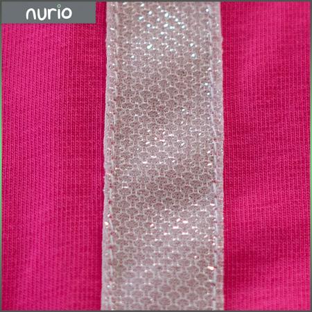 Pantalon tip legging culoare roz cu dungi contrastante [1]