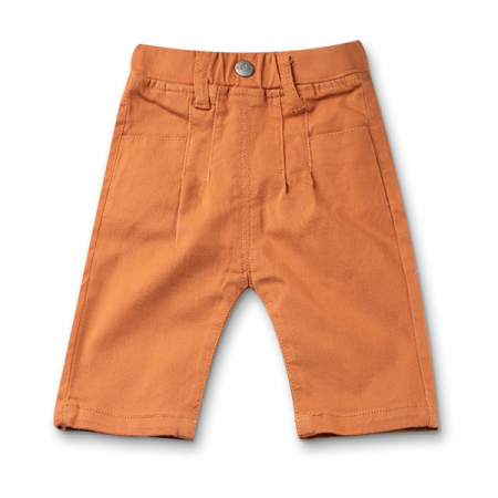 Pantaloni trei sferturi culoare caramiziu [0]