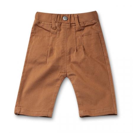 Pantaloni trei sferturi maro0