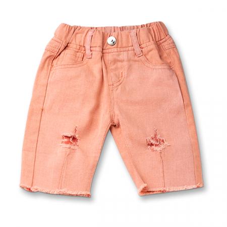 Pantaloni trei sferturi culoarea piersicii0