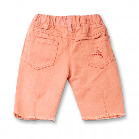 Pantaloni trei sferturi culoarea piersicii1