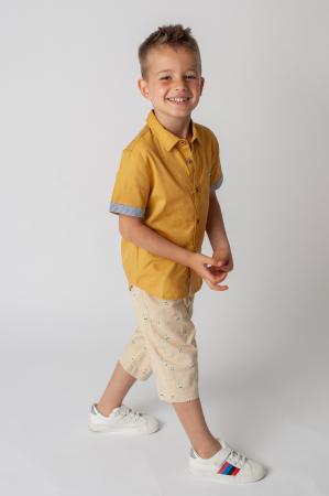 Pantaloni cu imprimeu barcute6