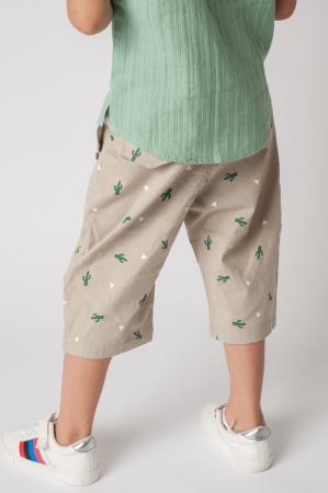 Pantaloni cu imprimeu cactusi2