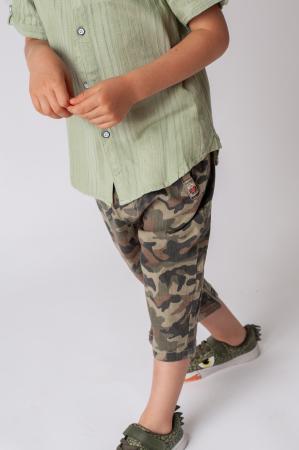Pantaloni din  bumbac cu imprimeu camuflaj [7]