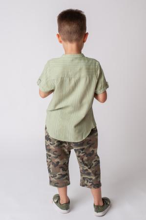Pantaloni din  bumbac cu imprimeu camuflaj [6]