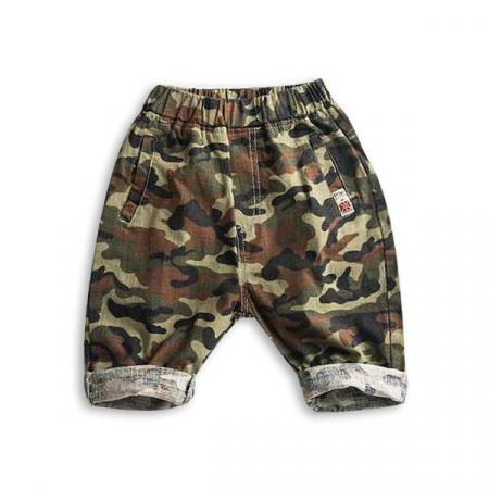 Pantaloni din  bumbac cu imprimeu camuflaj [4]