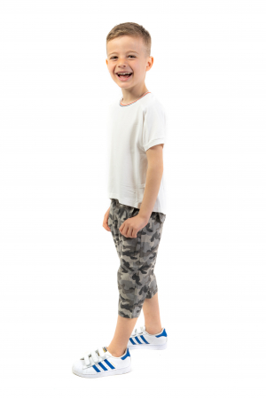 Pantaloni din  bumbac cu imprimeu camuflaj [0]
