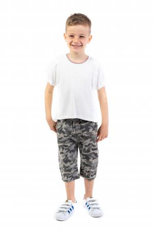 Pantaloni din  bumbac cu imprimeu camuflaj [2]