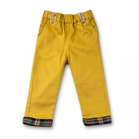 Pantaloni cu manseta in carouri5