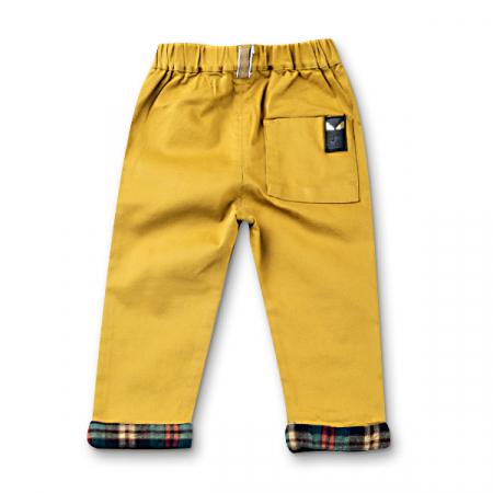 Pantaloni cu manseta in carouri6
