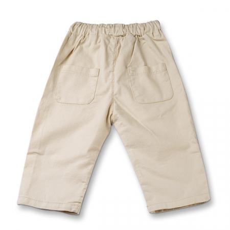 Pantaloni in bej cu snur baieti1