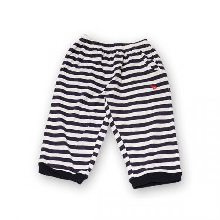 Pantaloni jogger trei sferturi cu dungi [0]