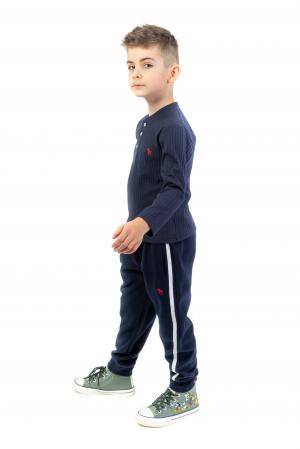 Pantaloni sport cu dunga laterala0