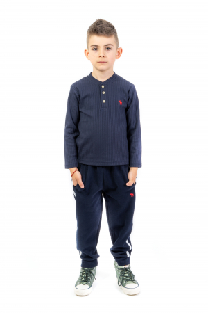 Pantaloni sport cu dunga laterala2