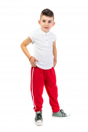 Pantaloni sport cu dunga laterala1