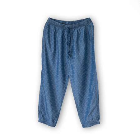 Pantaloni subtiri din denim imprimat [1]