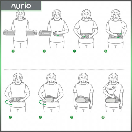 Port bebe ergonomic cu scaunel caramiziu [3]