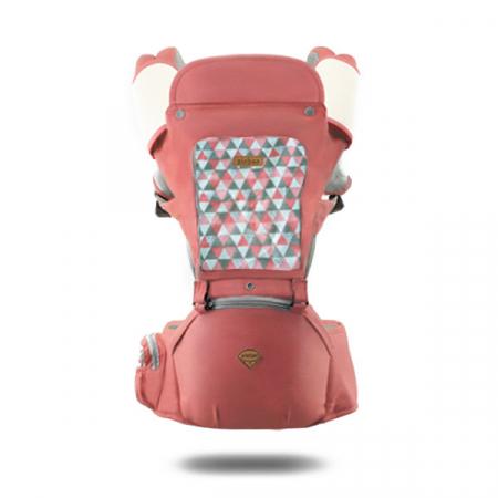 Port bebe ergonomic cu scaunel caramiziu [0]