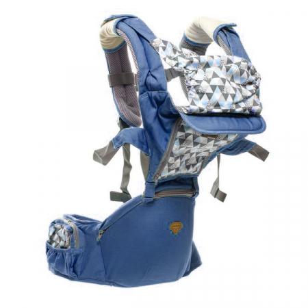 Port bebe ergonomic cu scaunel,albastru [1]