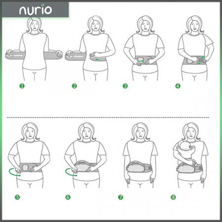 Port bebe ergonomic cu scaunel,gri3