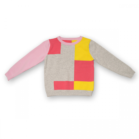 Pulover din Tricot Colorat [0]