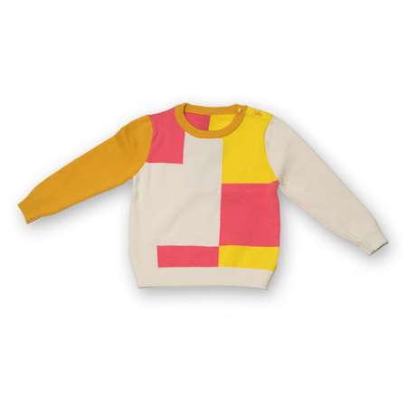Pulover din Tricot Colorat0