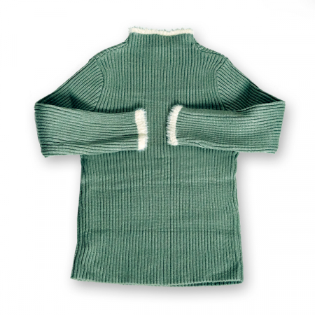 Pulover Simplu din Tricot cu Blăniță [1]