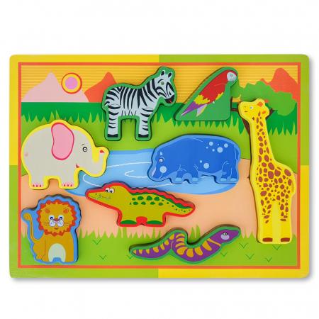 Puzzle 3D din lemn cu  animale salbatice1