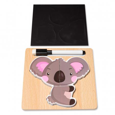 Puzzle 3D din lemn cu stilou - ursulet0