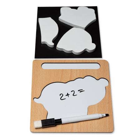 Puzzle 3D din lemn cu stilou - elefant1