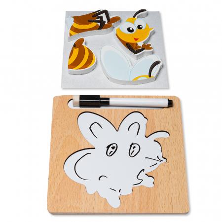 Puzzle 3D din lemn cu stilou - albinuta1