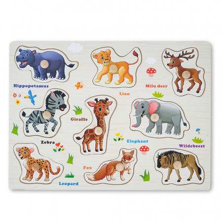 Puzzle din lemn cu animale1