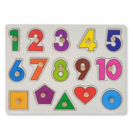 Puzzle din lemn cu cifre si forme geometrice [1]