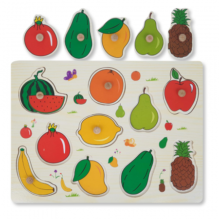 Puzzle din lemn cu fructe [0]