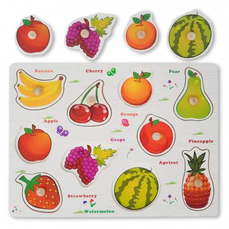 Puzzle din lemn cu fructe0