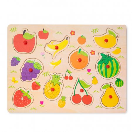 Puzzle din lemn cu fructe2