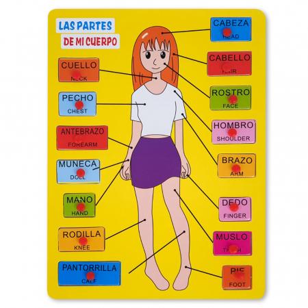 Puzzle din lemn cu partile corpului uman1