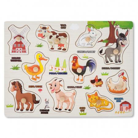 Puzzle din lemn cu pui de animale domestice [1]