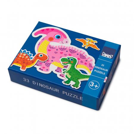 Puzzle din lemn in cutie - dinozauri0