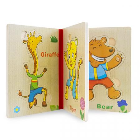Puzzle din lemn tip carte1