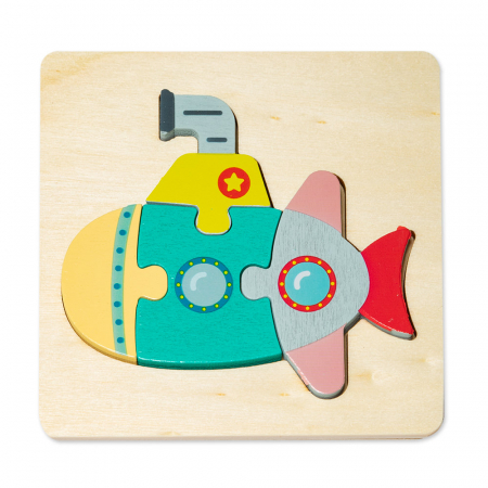 Puzzle mic 3D din lemn - submarin0