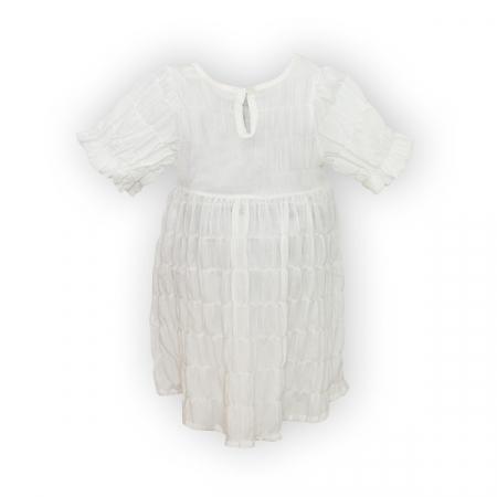 Rochie alba cu elastice [4]