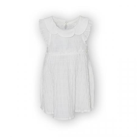 Rochie alba cu elastice0